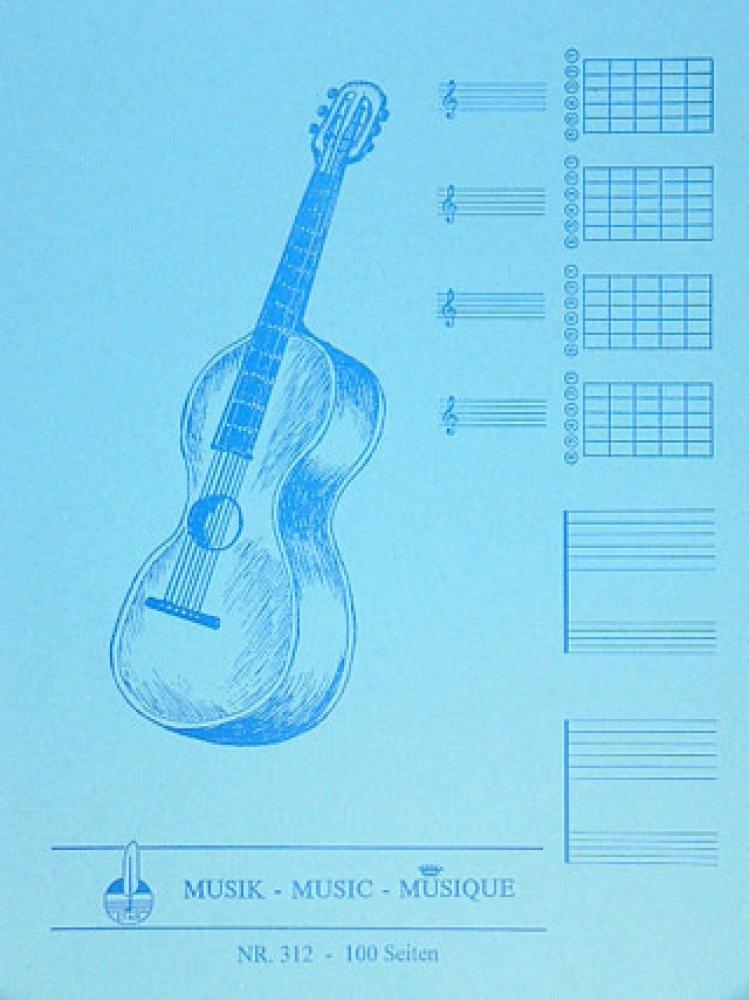 Notenblock Fuer Gitarre Mit Tabulatur: Amazon.de: Bücher