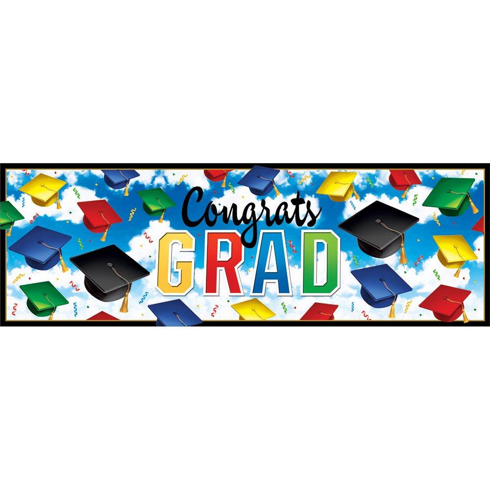 Centerpiece Balloons and Photo Booth Prop Set 5-Piece Bundle/ Dizzy Danglers Graduation Celebration Party Decorations: Banner