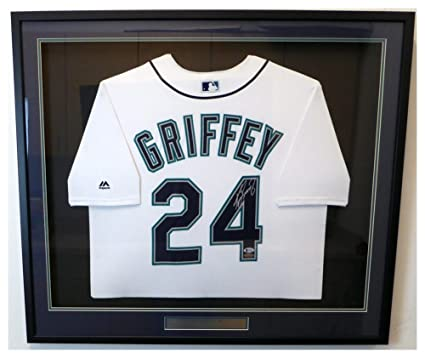 f24f8048afc Image Unavailable. Image not available for. Color  Seattle Mariners Ken  Griffey Jr. Autographed Signed Framed White Majestic Jersey ...