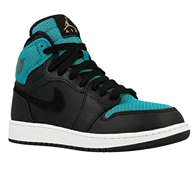 899fbd40e6 Amazon.com | Nike Girls AIR Jordan 1 Retro HIGH GG, Black/Metallic ...