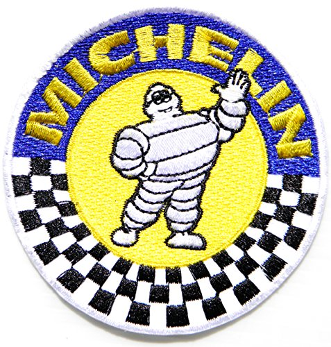 MICHELIN Man Tire TEAM Logo Sign Sponsor Car Racing Motorsport Biker Patch Iron on Applique Embroidered T shirt Jacket Custom BY SURAPAN - 70's Costumes Ireland