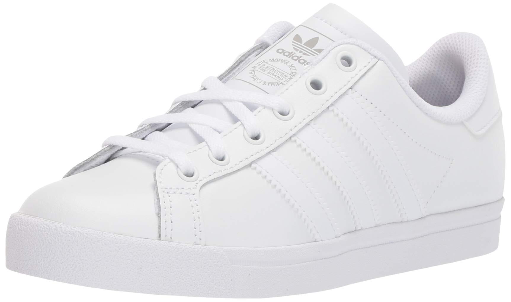 adidas Originals Unisex Coast Star Sneaker, White, Grey, 4 Medium US Big Kid