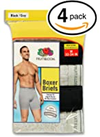 Fruit of the Loom Men's Boxer Briefs (Pack of 4)