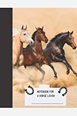 Notebook for a Horse Lover: Composition 104 pages 8.5 X 11 Go Old School with style: Note taking, Class, Journal, Diary, College Ruled Lined Notebook, Office, Meetings, Back to school Paperback
