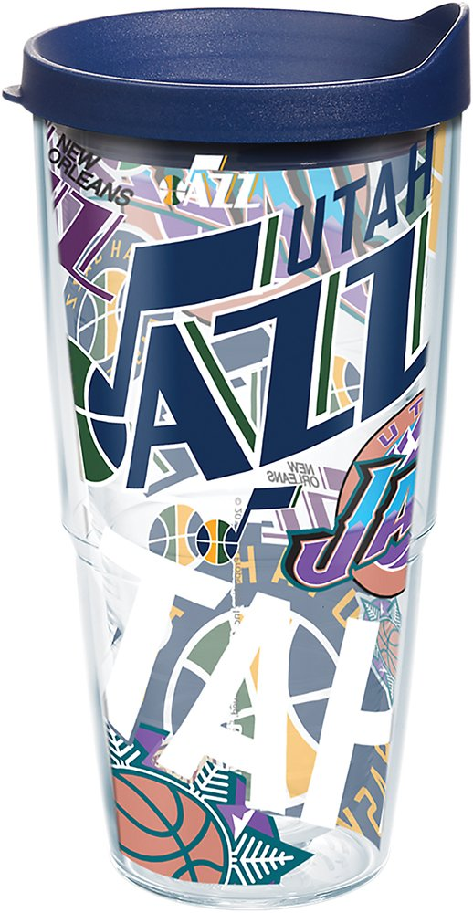 Tervis 1264223 NBA Sacramento Kings All Over Tumbler with Wrap and Navy Lid 24oz Clear