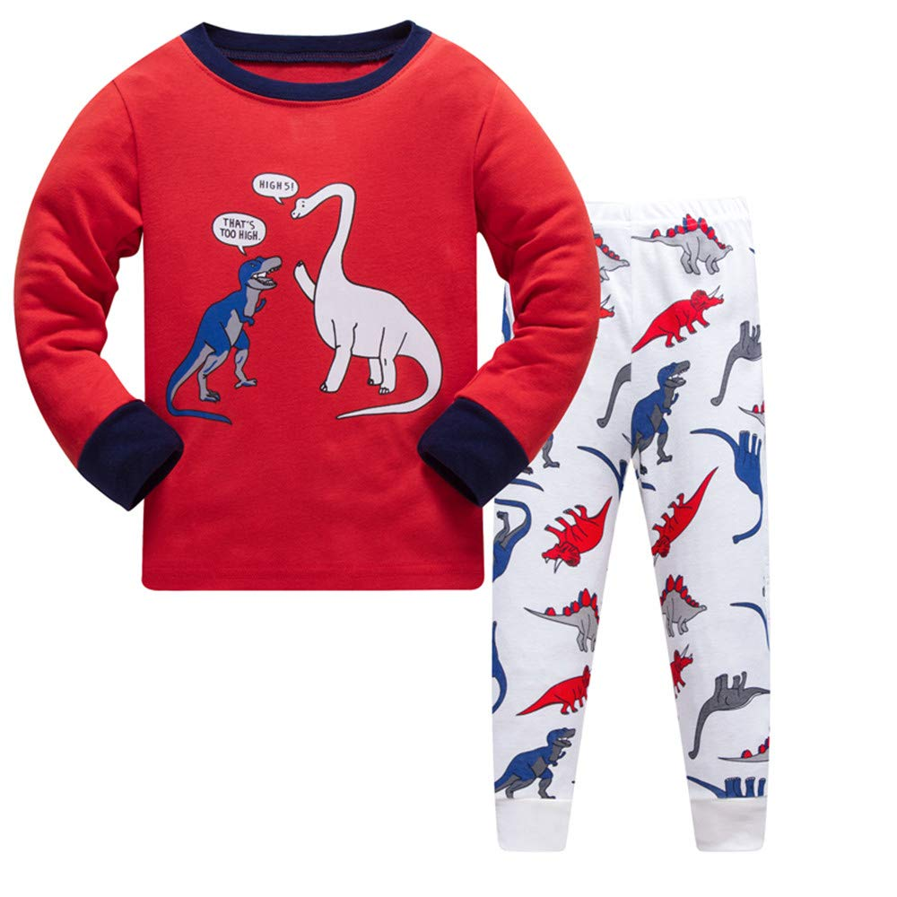 Older Boys Pyjamas Dinosaur Nightwear Sleepwear Long Sleeve Pjs Set for Kids Toddler 7-8 Years 8T