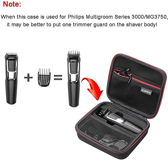 RLSOCO Caso Funda para Philips Barbero MG3710/15,MG3720/15,MG3730 ...
