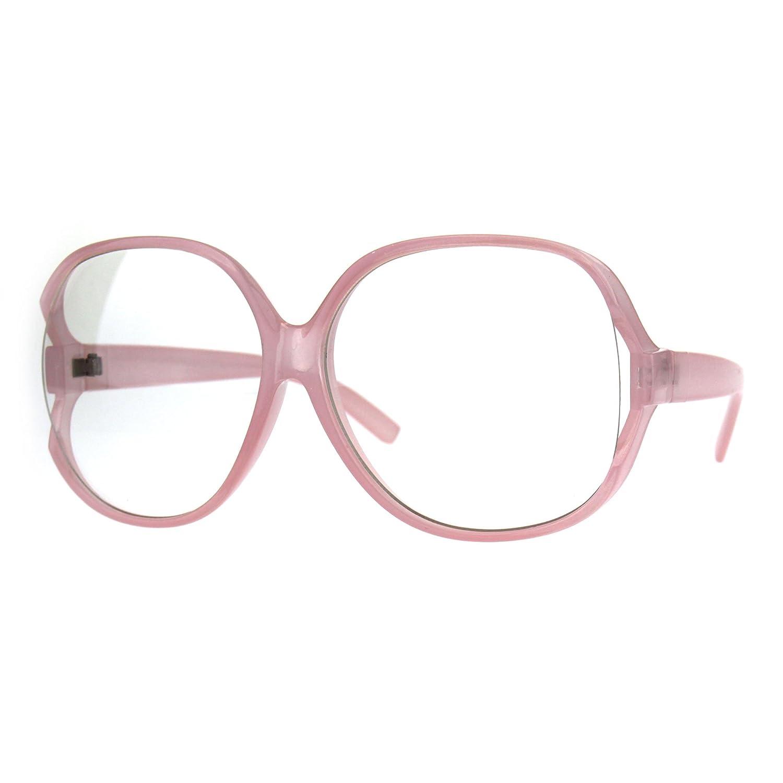 db055787c2 Amazon.com  Womens Oversize Exposed Lens Butterfly Granny Plastic Eyeglasses  Black  Clothing