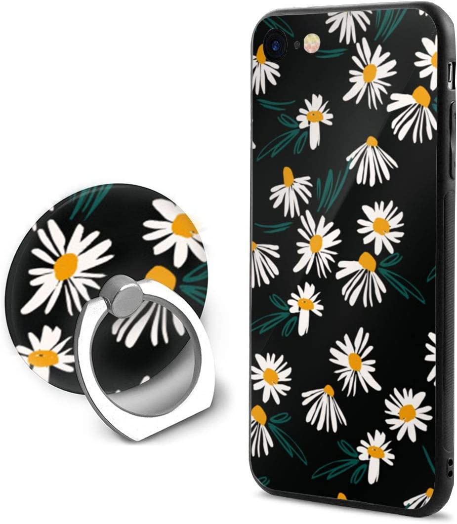 Amazon Com Daisy Floral Pattern Black Background Soft Rubber