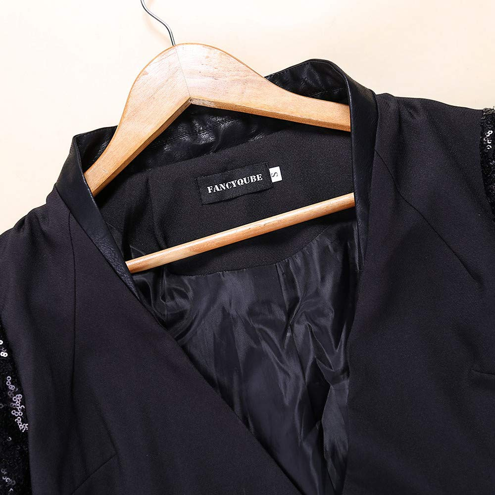 Donna OL Paillettes impiombare Polsini Blazer Elegante Blazer Slim Outwear Windbreaker Giacca INNEROSE ❤ Donna Cappotto Capispalla Pelliccia Magliette