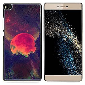 Stuss Case / Funda Carcasa protectora - Red Planer Universo Marte Galaxy Estrellas - Huawei Ascend P8 (Not for P8 Lite)
