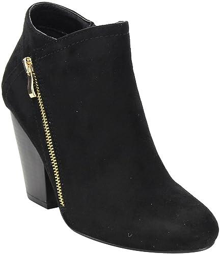 good out x amazing selection 2019 hot sale ShoBeautiful Women Block Heel Ankle Boots Riding Chunky Heel Booties Low  Heel Casual Comfortable Cowboy Walking Boot