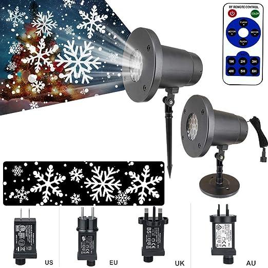Los copos de nieve paisaje proyector de la lámpara LED de la etapa ...