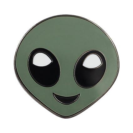 Amazoncom Alien Emoji Pin Enamel Pin For Your Life Everything