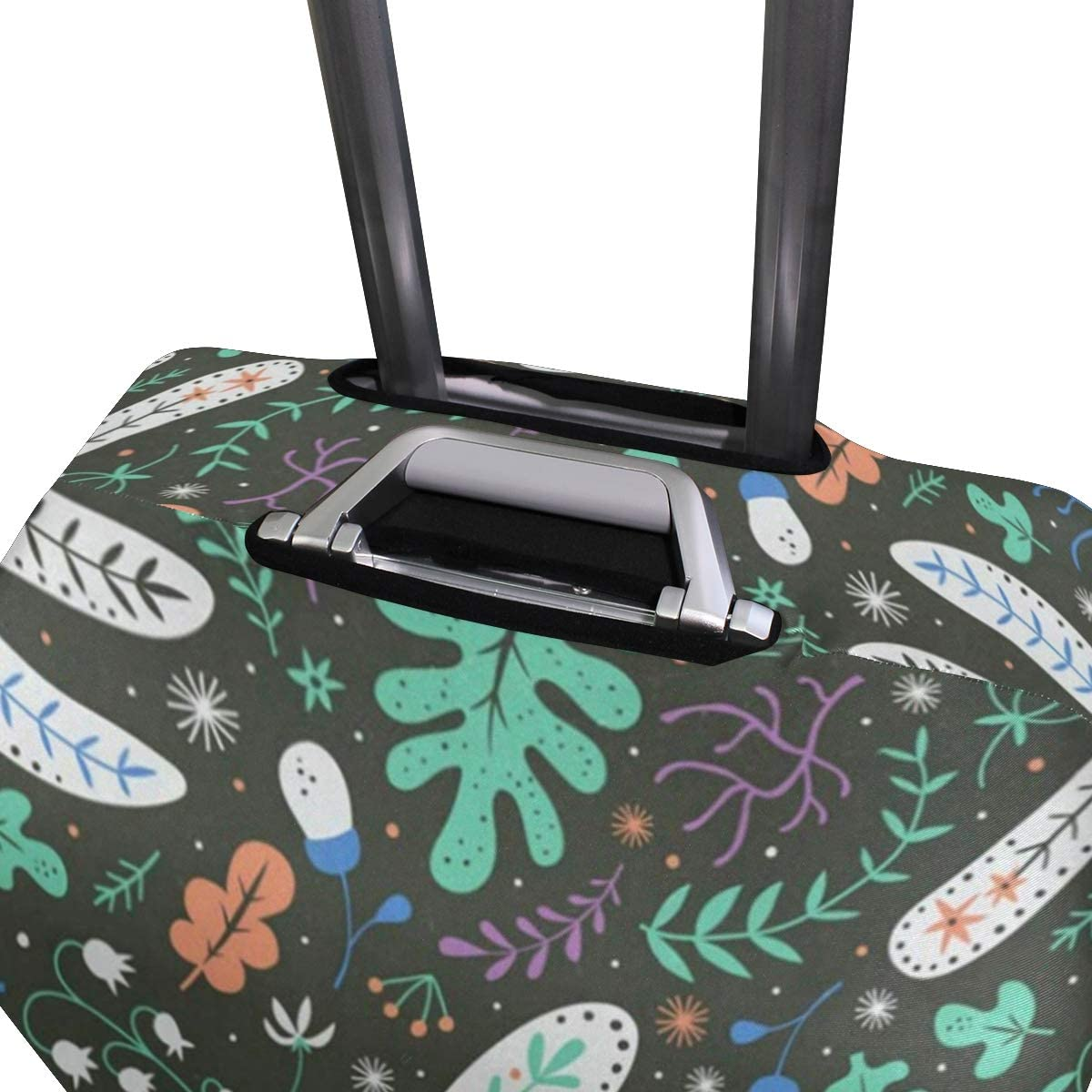 Suitcase Cover Floral Paris Eiffel Tower Luggage Cover Travel Case Bag Protector for Kid Girls