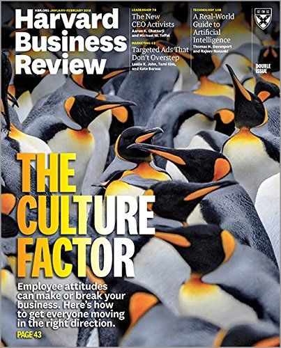 Harvard Business Review Magazine (January-February, 2018) The Culture Factor