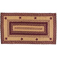 IHF HOME DECOR New Country Style Area Floor Carpet Rectangle Braided Rug  20