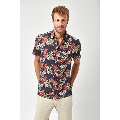 4d7fe293b88 Camisa MC Estampa Floral - Estampada - Tamanho P  Amazon.com.br ...