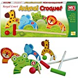 WOODEN ANIMAL CROQUET GOLF KIDS INDOOR OUTDOOR GARDEN FUN TOY GAME SET CUTE NEW