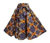 Yoga Trendz Women's Ethnic Print Cotton Flared Umbrella Cut Mid Length Skirt (8)