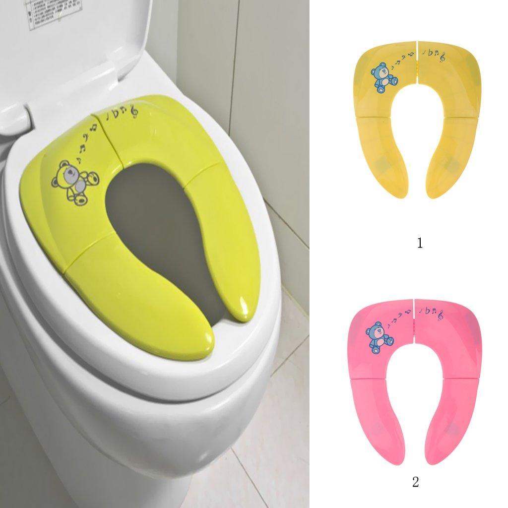 Gelb Klapp Reise T/öpfchen Sitz wc F/ür Baby Portable Ausbildung Toilette Kleinkind Fushcia