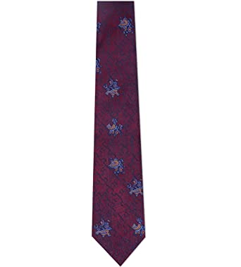 73d6777144e4 Turnbull & Asser Dark Red Burgundy Blue Jigsaw Pattern Woven Tie 8cm ...