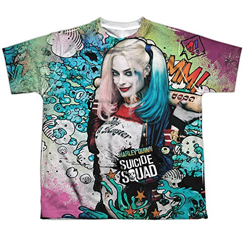 Youth: Suicide Squad - Harley Quinn Psychedelic Cartoon All Over Print T-Shirt (Harley Quinn Children)