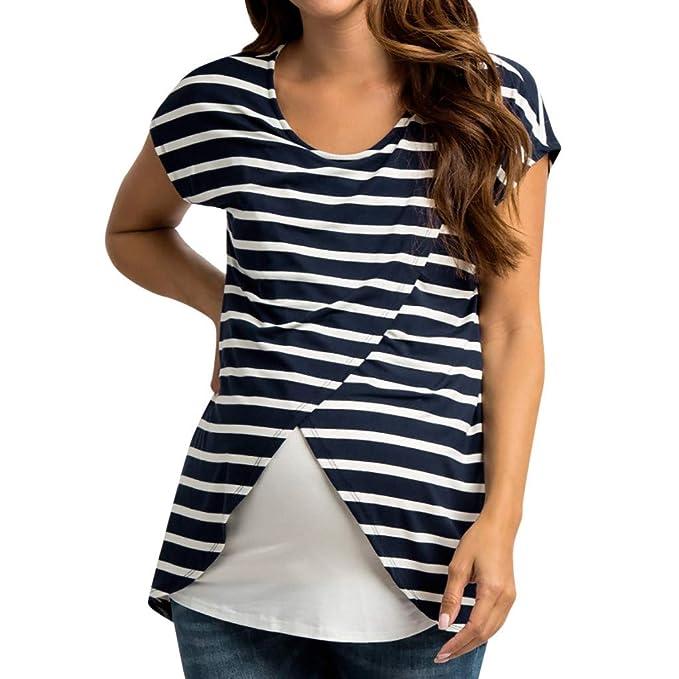 disponibilidad en el reino unido a0af7 f3915 Vectry Camisetas Premama Verano Mujer Embarazadas Maternidad ...