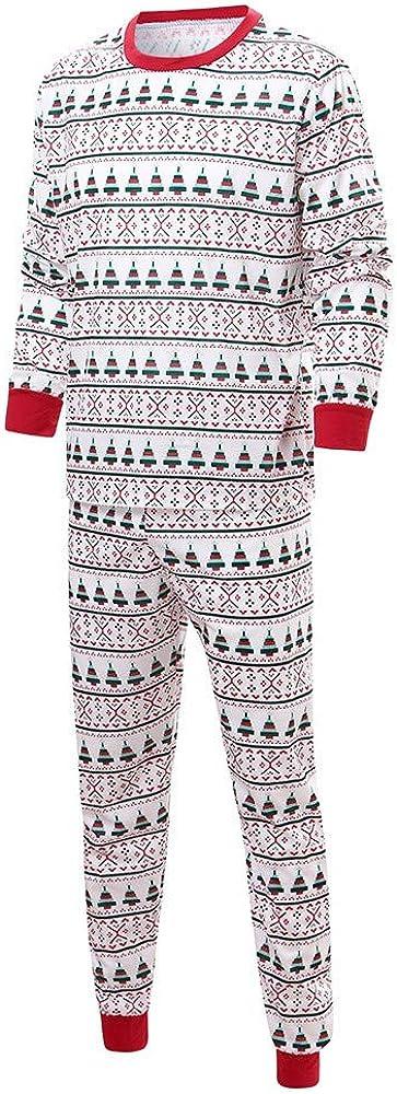LIKESIDE✿Boy Girl Santa Print Outfits Pajamas Sleepwear Sweatshirt+Long Pants