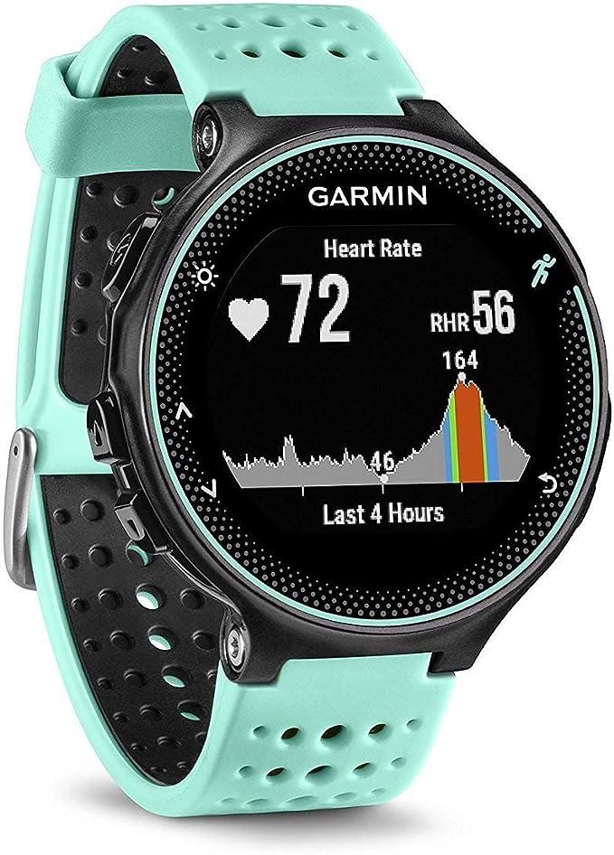 Garmin Forerunner 235 - Reloj con pulsómetro en la muñeca, unisex, color eléctrico Negro y Azul Hielo, talla única: Garmin: Amazon.es: Deportes y aire libre