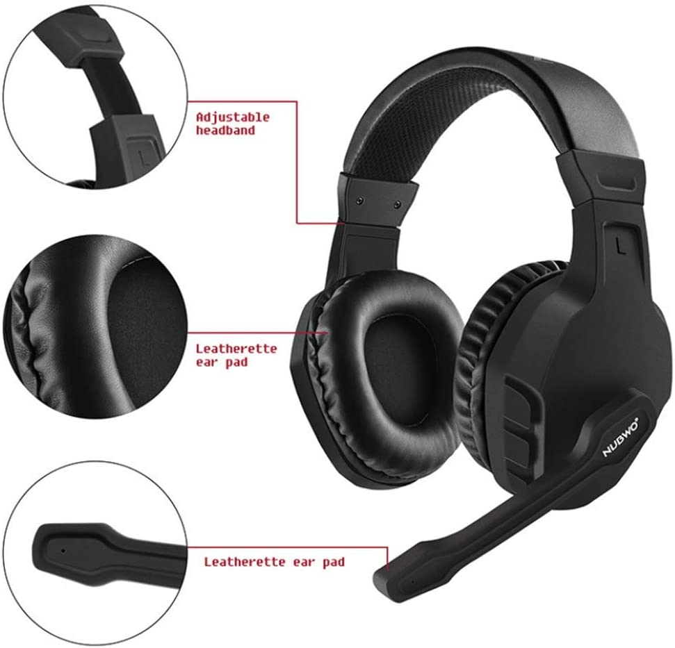 Gaming Headphones Surround Sound Over-Ear Noise Cancelling Video Game with Flexible Microphone Volume Control Gaming Headsets with Mic Soft Memory Earmuffs for PS4//PC gyx PS4 Headset Computer