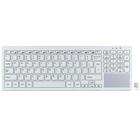 fenifox teclado inalámbrico con Touchpad, battitura Silencioso, Ultra fina, compacta, para PC