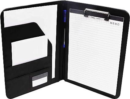 Cartellina portadocumenti in pelle formato A4 cartella professionale blue Padfolio