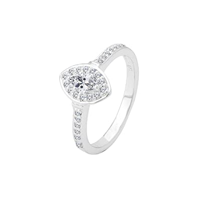 005361c935129 Buy Voylla 92.5 Sterling Silver Marquise Ring Jewelry Gift for Her ...