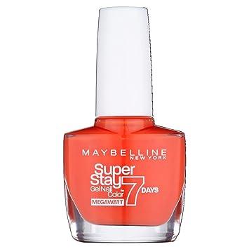 Maybelline SuperStay Mega Watt 7days 470 Orange Punch Naranja esmalte de uñas - Esmaltes de uñas