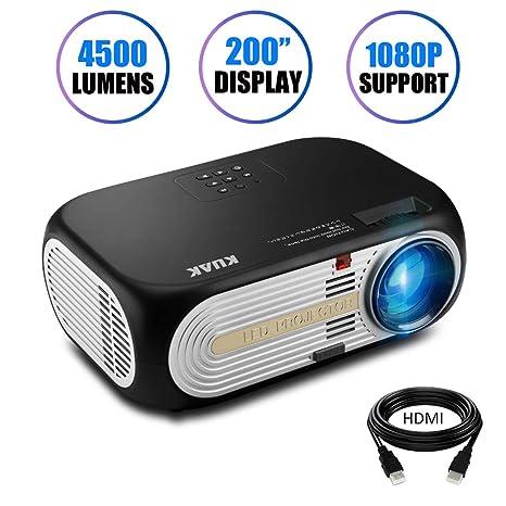Amazon.com: kuak HT60 3000 lúmenes proyector LED, proyector ...