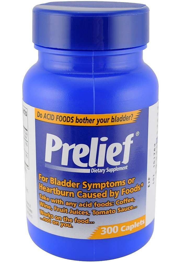 Prelief Acid Reducer Dietary Supplement Caplet 300 ct (6 Pack) by Prelief