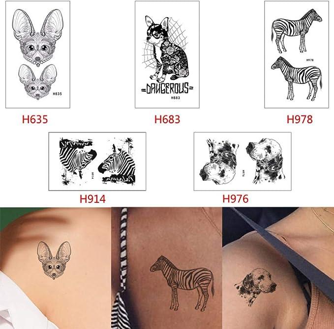 adgkitb Tatuaje Temporal Animal Pegatina Gato Perro Lobo Tatuaje ...