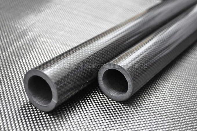 Carbon Fiber Tube 3K 2pcs 8MM OD X 6MM ID X 500MM 100/% Roll Wrapped WHABEST U.S 2pcs 8x6x500mm Glossy Tubing