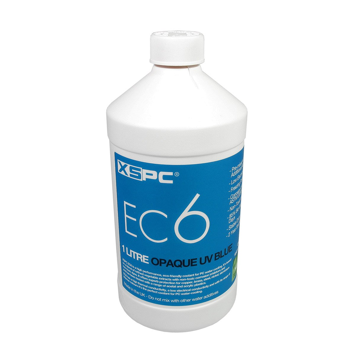 XSPC EC6 High Performance Premix Coolant, Opaque, 1000 mL, UV Blue