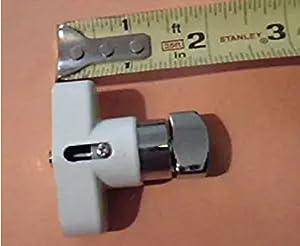 USA Premium Store HV Thumb Turn Lock Kit, Push Pin, Hurricane Shutter Hardware Part, White