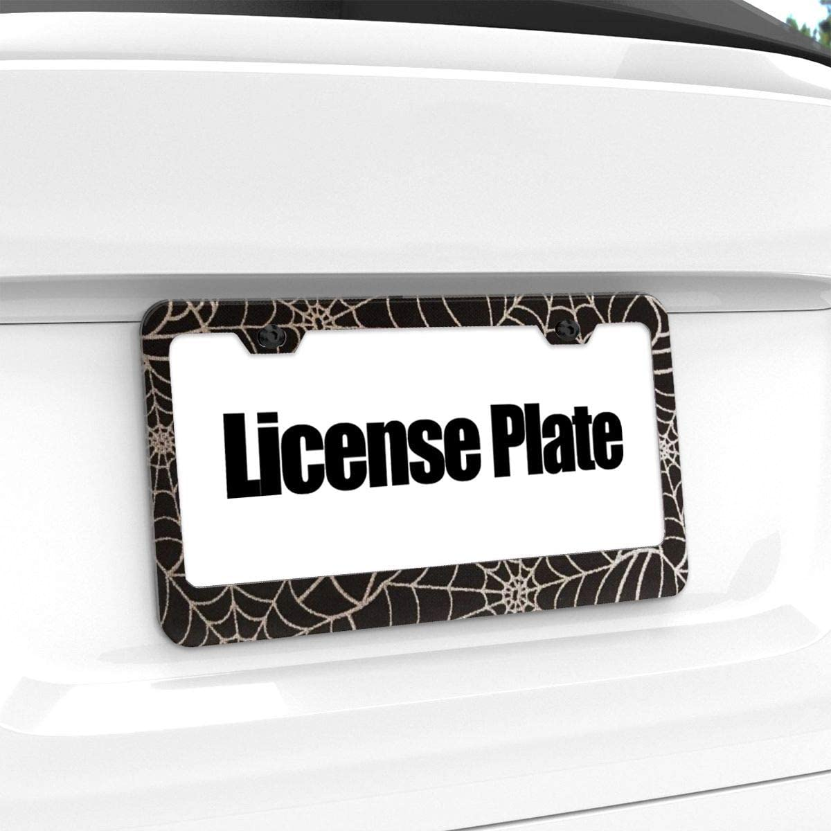 Dark Blue Camo License Plate Frames Stainless Steel Car Licence Plate Covers Slim Design for US Standard