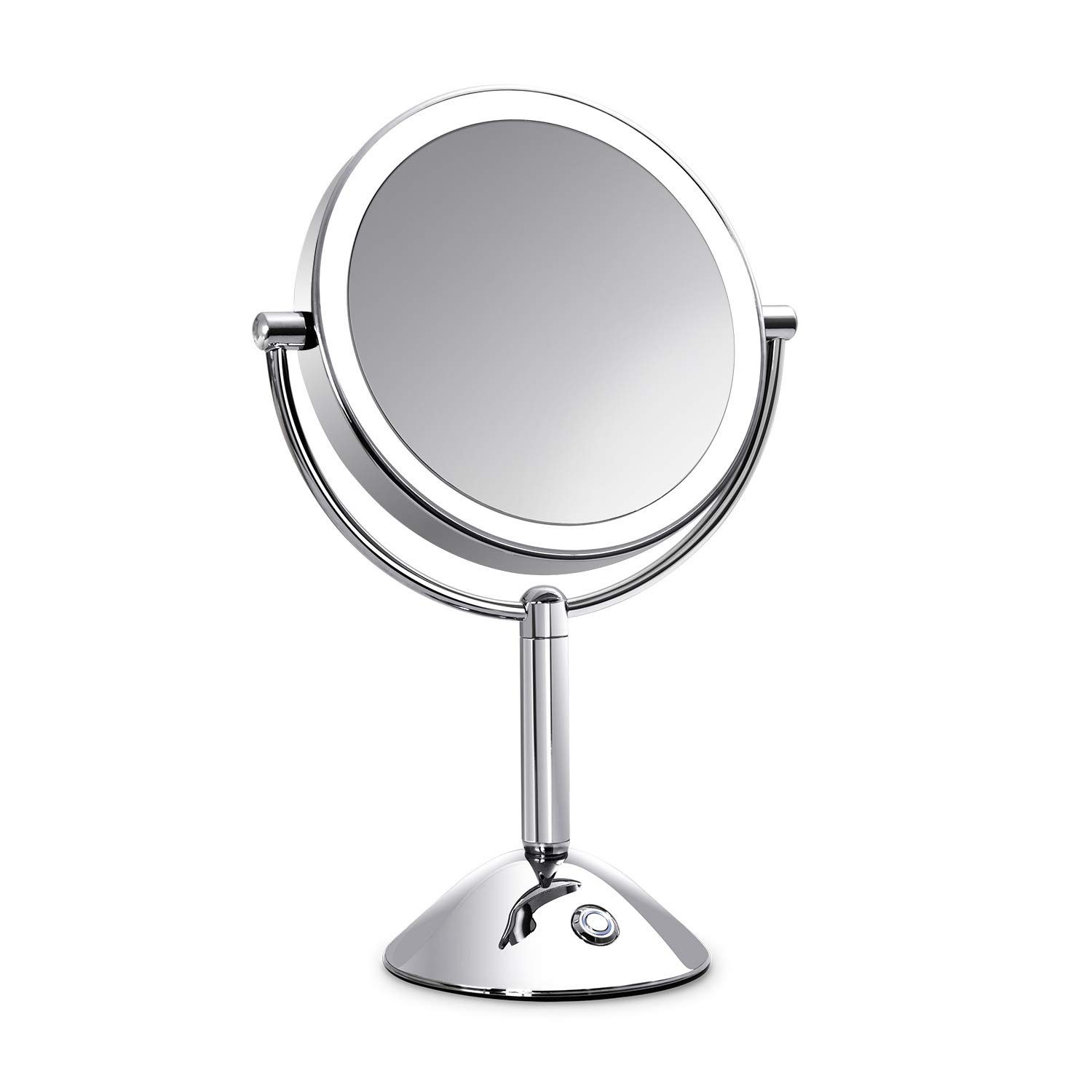 Makeup Mirror with Lights Lighted Makeup Mirror LED Vanity Mirror 7X Magnifying Magnified Double Sided Makeup Mirror Adjustable Cool White Light Mirror Large Makeup Corded Cordless Mirror