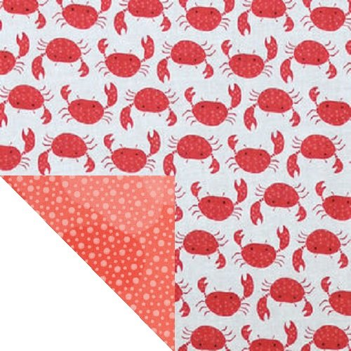 Summertime Beach Fun with Crabs Double Sided Napkin Kiddokins Cotton Cloth Napkin for Kids Luchbox