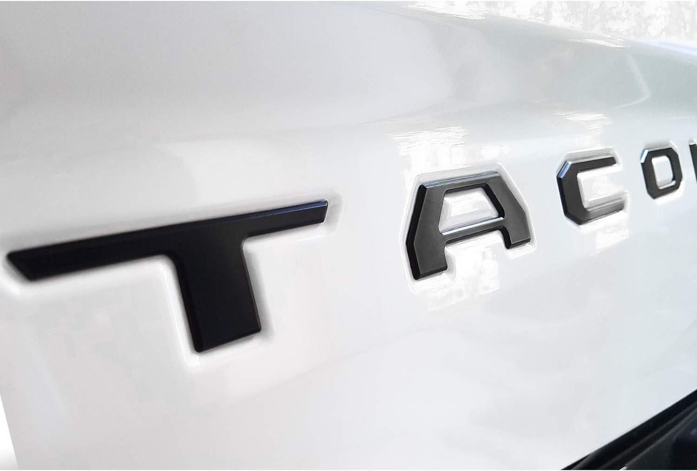 Seven Sparta Tailgate Letters Fit Toyota Tacoma 2016 2017 2018 2019 2020 3D Raised Black Letters Zinc Alloy Emblem Inserts