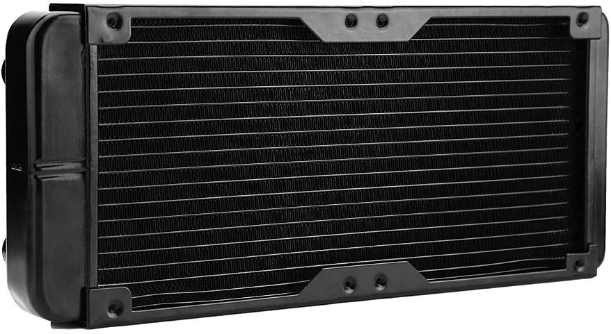 Zer one 18 Pipe Aluminum PC Water Cooling Radiator 240mm for CPU LED Heatsink (Supports 2 x 120mm Fans)