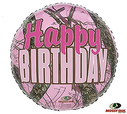 Happy Birthday Mossy Oak Mylar 17u0026quot; Pink Balloon Camo Camouflage Hunter Party  sc 1 st  Amazon.com & Amazon.com: Happy Birthday Mossy Oak Mylar 17