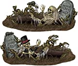 """Beistle 00907 Printed Doomed Groom and Buried Bride Props, 33.5"""" x 5' 3"""", 2 Pieces In Package"""