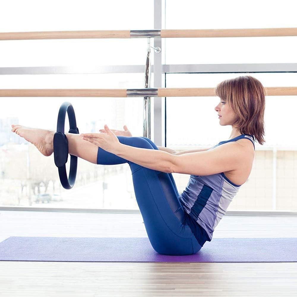 Anillo Circular de Yoga Mango Doble Pilates Anillo de Yoga Ejercicio f/ísico Muslo Interno AB Anillo de Muslo Aro de Yoga