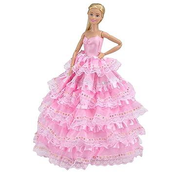 E-TING a mano ropa de encaje vestido de la muñeca una muñeca 1 pieza